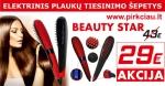 BEAUTY STAR elektrinis plaukų tiesinimo šepetys 29 EUR