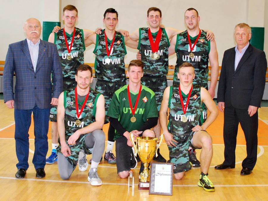 Rajono krepšinio pirmenybių nugalėtojai - UTVM!