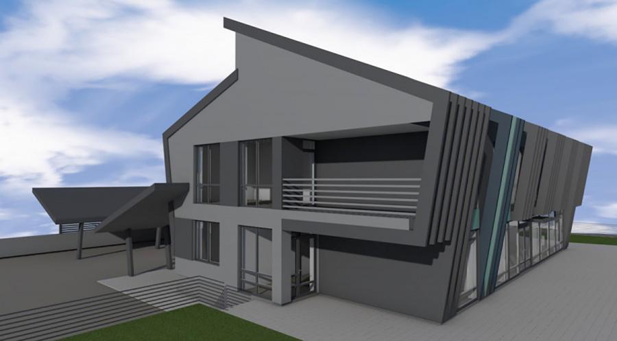 Taip atrodys naujasis pastatas Deltuvos gatvėje.