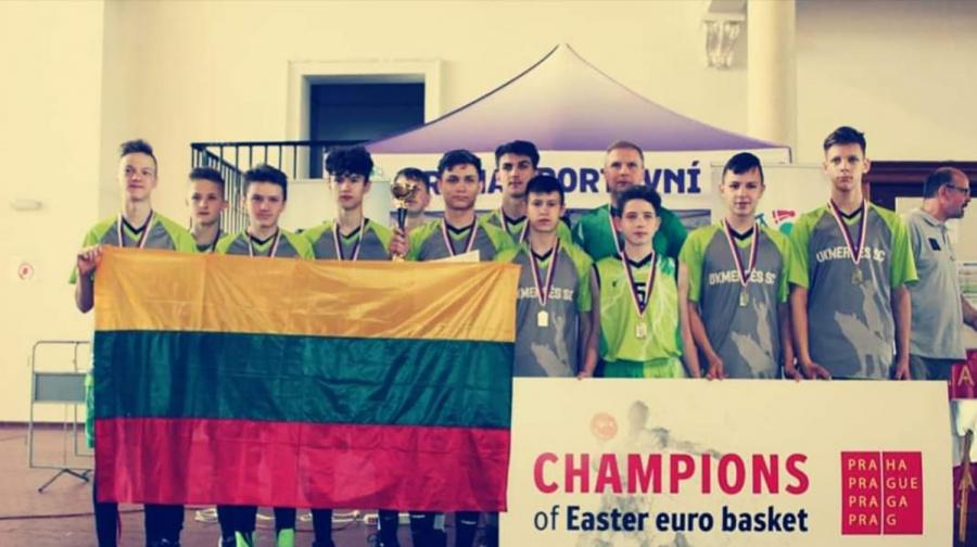 Finale ukmergiškiai laimėjo prieš Čekijos komandą ir tapo turnyro čempionais.