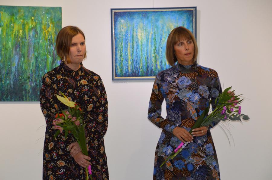 Autoriaus nuotr. Kristinos Darulienės ir Kristinos Kasmauskienės parodos panašios savo požiūriu į gamtą, jausmus.