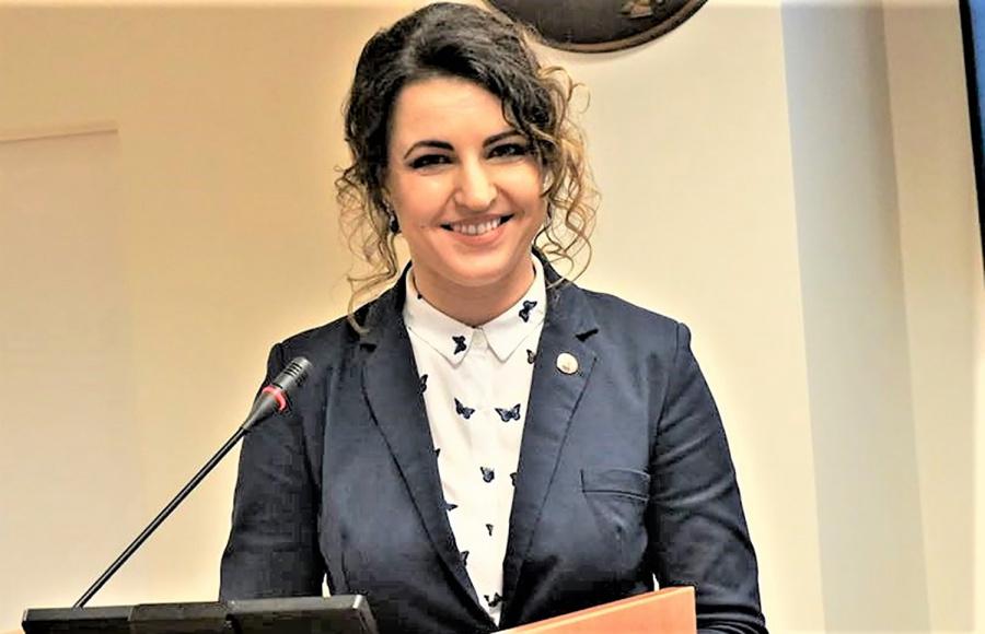 Informaciją posėdyje pateikė mero pavaduotoja A. Balčiūnienė. D. Zimblienės nuotr.