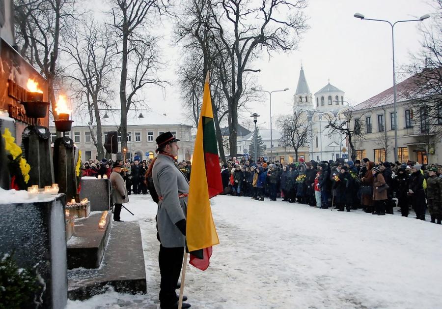 Į renginį susirinko gausus būrys ukmergiškių. Gedimino Nemunaičio nuotr.