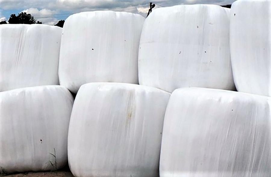 Plėvelė nuo šienainio ritinių nėra komunaliniame atliekų sraute susidarančios pakuočių atliekos.