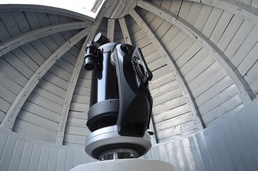 Teleskopas – sena mokyklos istorija. Autoriaus nuotr.