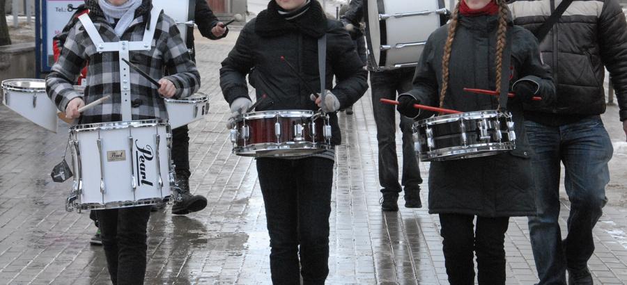 Mušamųjų instrumentų muzika Ukmergėje skambėdavo kiekvieną pavasarį vykdavusiuose festivaliuose. Tikėtina, skambės ji ir po pandemijos.  Gedimino Nemunaičio nuotr.